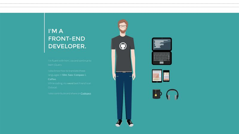 Interactive Portfolio And Resume Websites To Inspire You  Website