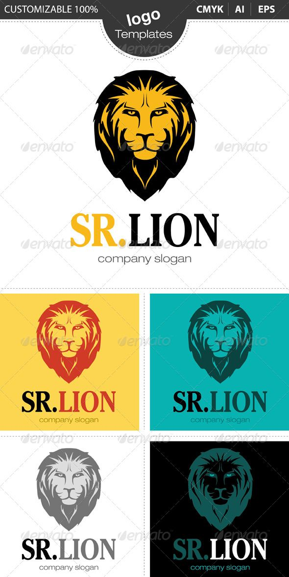 Sr Lion Logo #GraphicRiver The Pack included: Ai, EPS CMYK