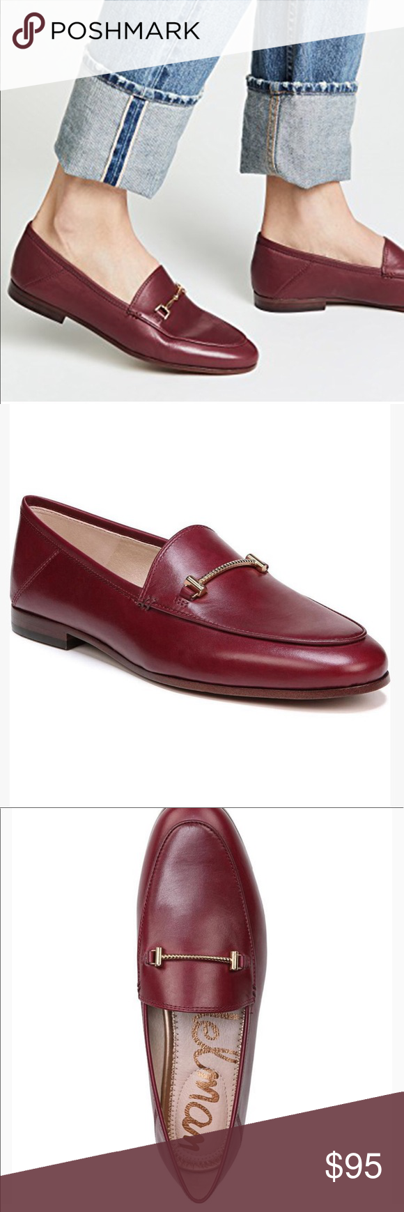 94775e9c88a NWB SAM EDELMAN Lior Leather Loafer Burgundy Red SAM EDELMAN Lior Leather  Loafer in Beet Red