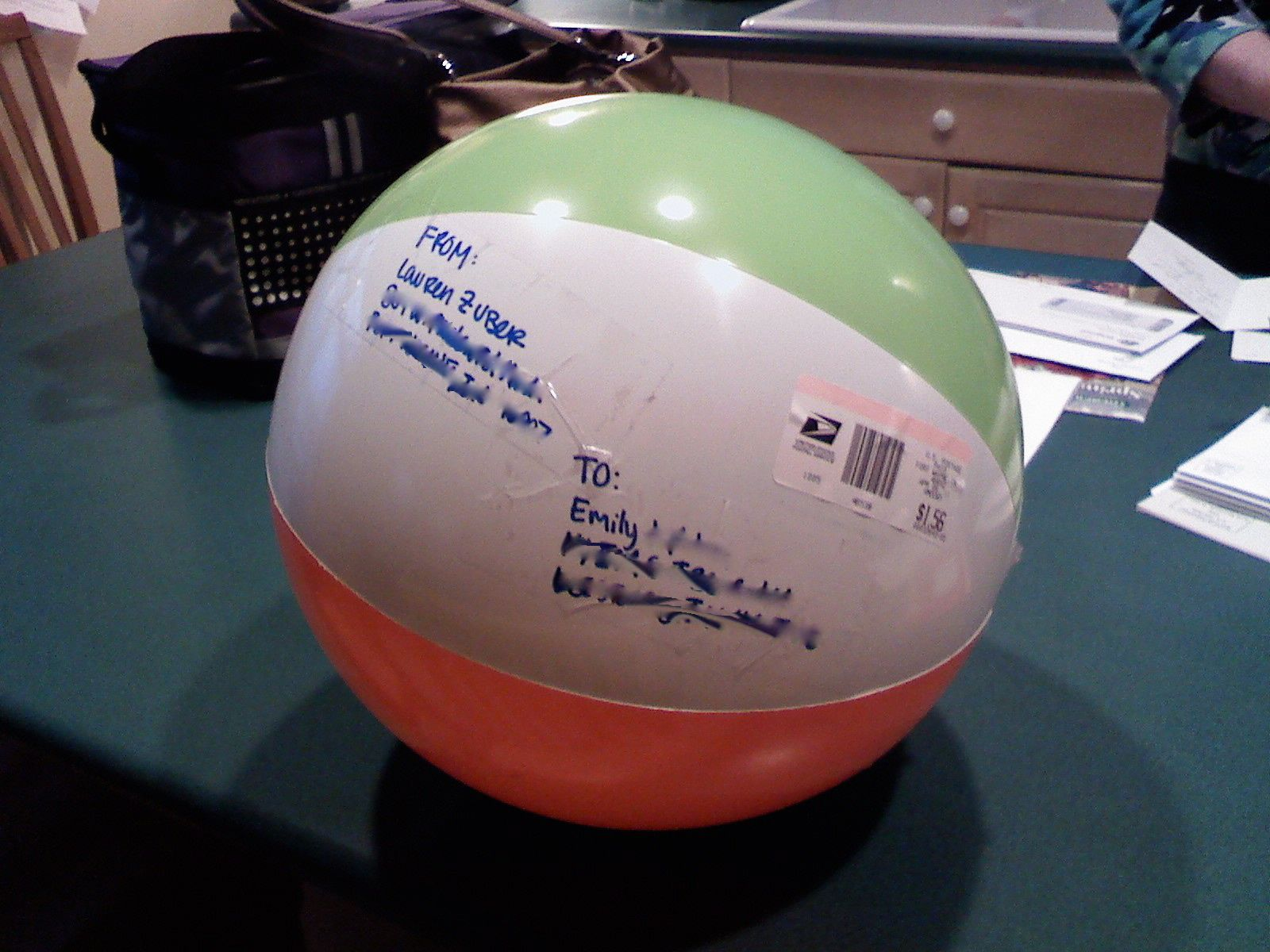 Mailing NonTraditional Items Beach Ball  Beach Ball Pen Pals And