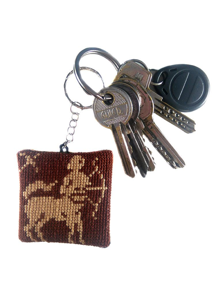 GEMINI PICTURE Zodiac Star Sign Quality Leather and Chrome Keyring
