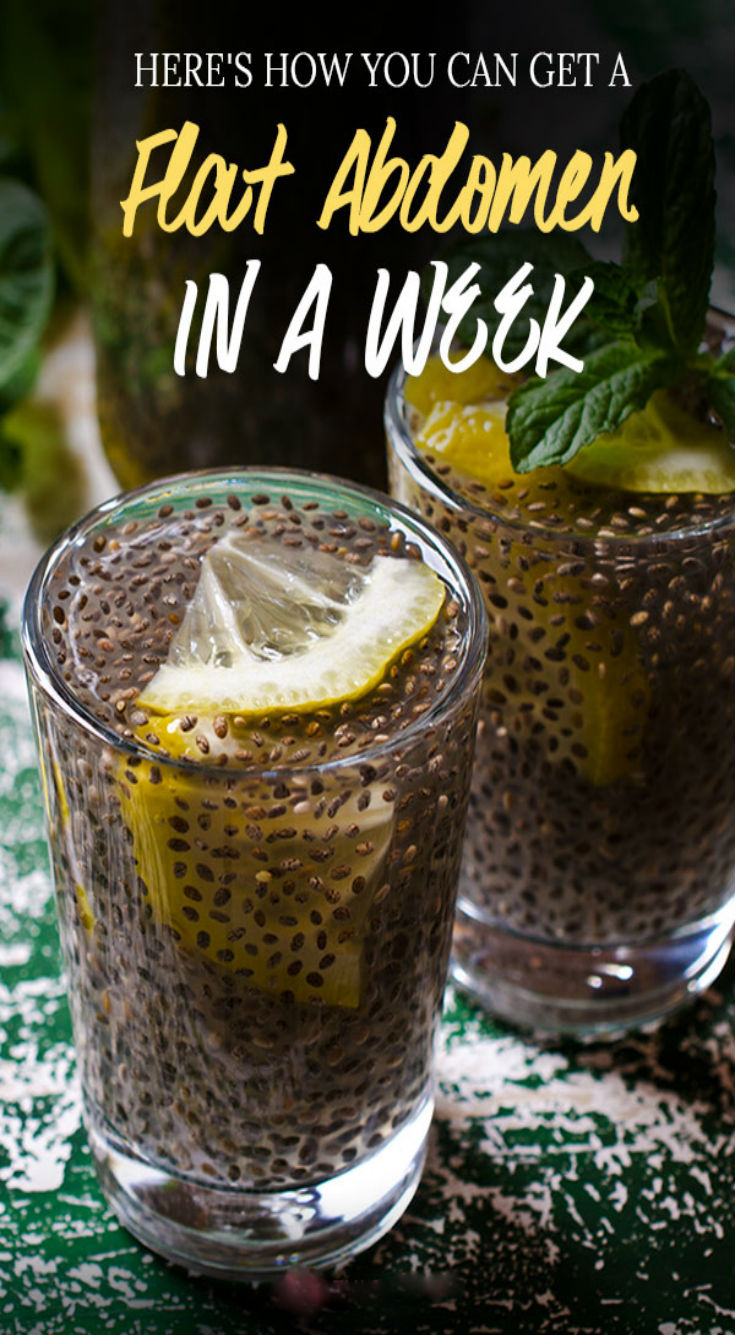 Consume A Mixture Of Chia With Lemon And You Will Get a Flat Abdomen…