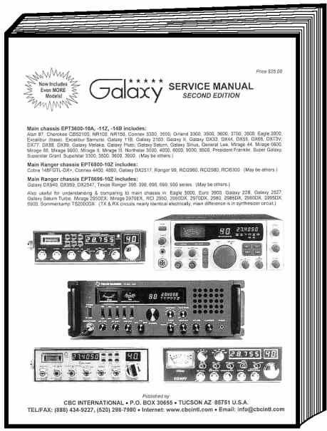 galaxy service manual cbc intl cb radios pinterest ham radio rh pinterest com president harry cb radio manual uniden pro510xl cb radio manual