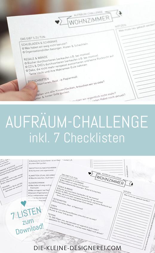 7 Checklisten zum Download um endlich Zuhause aufzuräumen: Küche ...