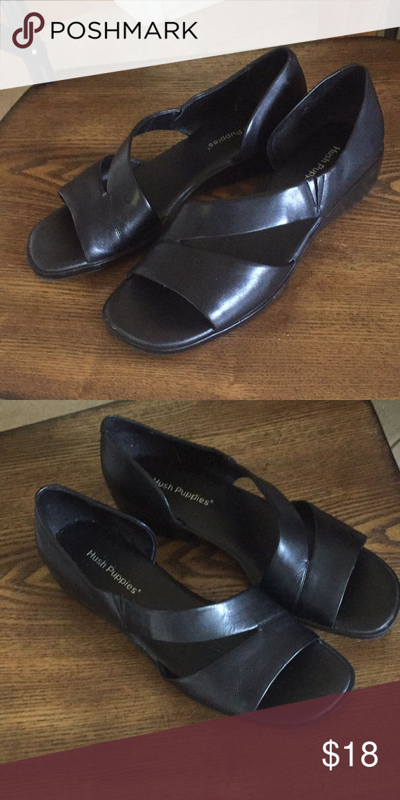 Hush Puppies Black Shoes Size 9 Wide Hardly Worn Size 9 Wide Hush
