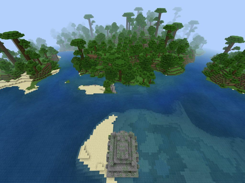 Offshore Jungle Temple for PE/Bedrock - Minecraft free seeds