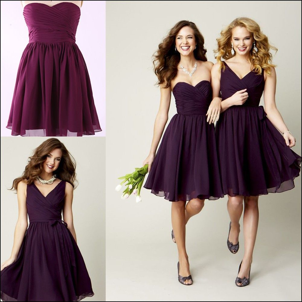Plum bridesmaid dresses under dresses and gowns ideas
