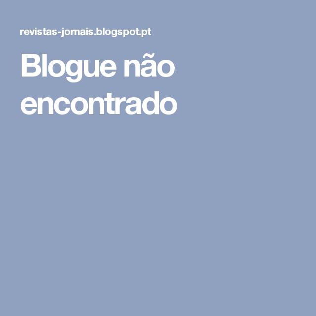 Blogue não encontrado