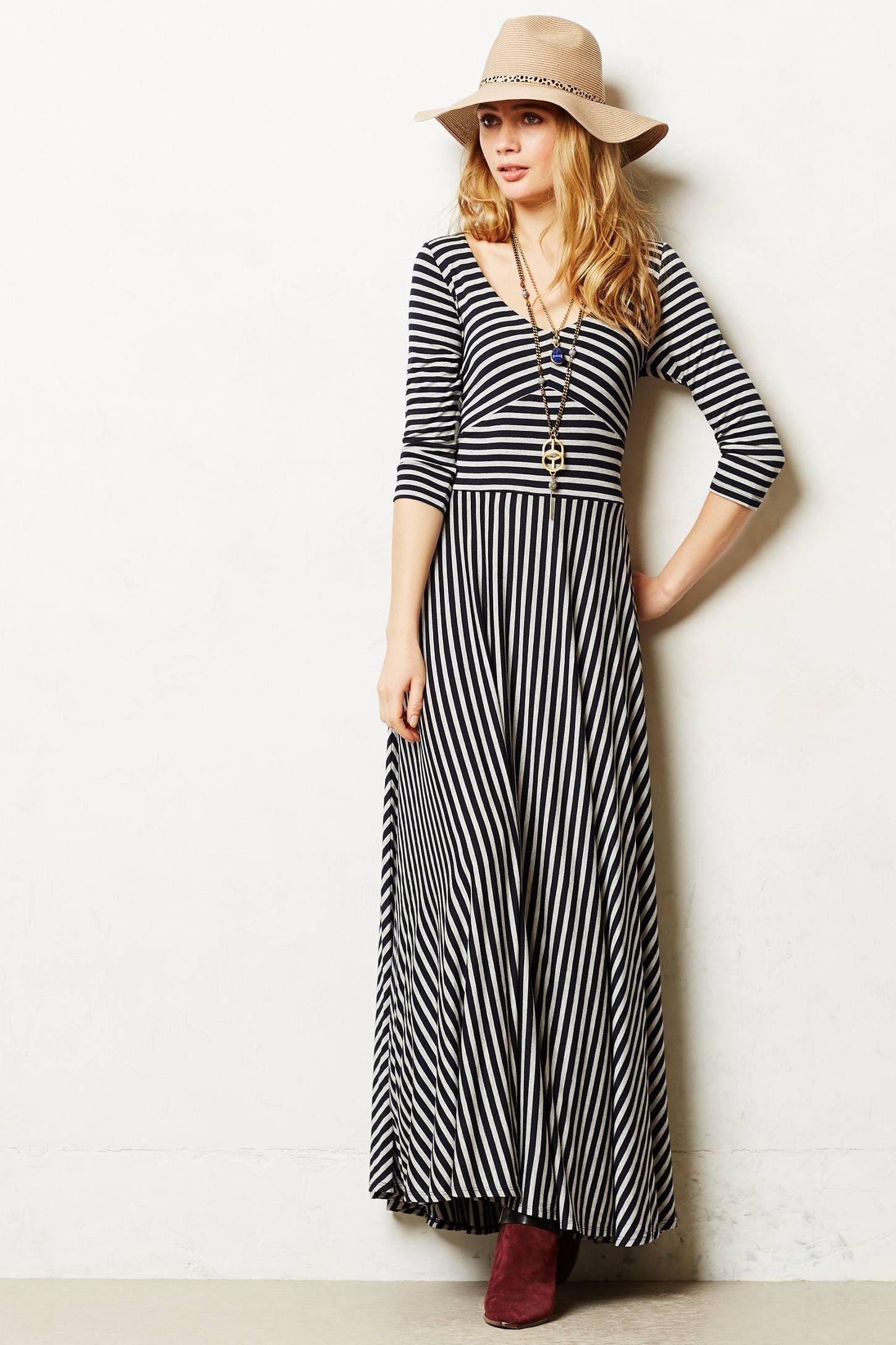 Demarcation Maxi Dress Anthropologie Com Maxi Dress Vertical Striped Dress Nice Dresses [ 2175 x 1450 Pixel ]