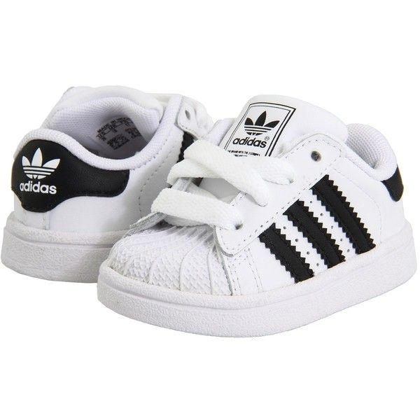 58a56c34398 adidas Originals Kids Superstar 2 Core (Infant Toddler) ( 40) ❤ liked on  Polyvore featuring baby