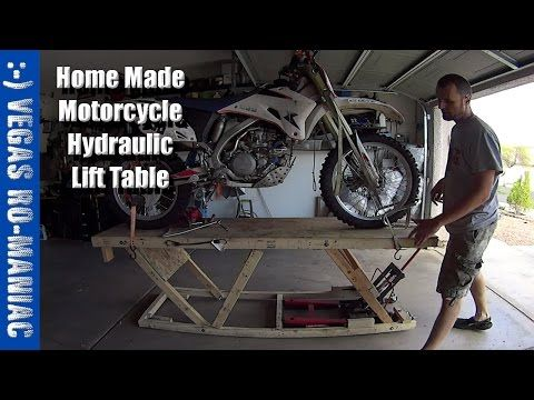 Under 20 Diy Home Made Motorcycle Hydraulic Lift Table Crazy