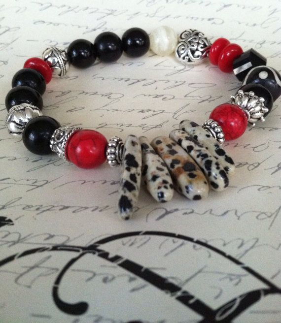 Colorful Gemstone Bracelet  by mSsDdesigns on Etsy