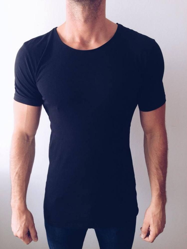 9b6ef2d50cbeb ZARA DELUXE LONG LENGTH T-SHIRT ESSENTIALS BLACK SIZE S Ref. 0722 ...