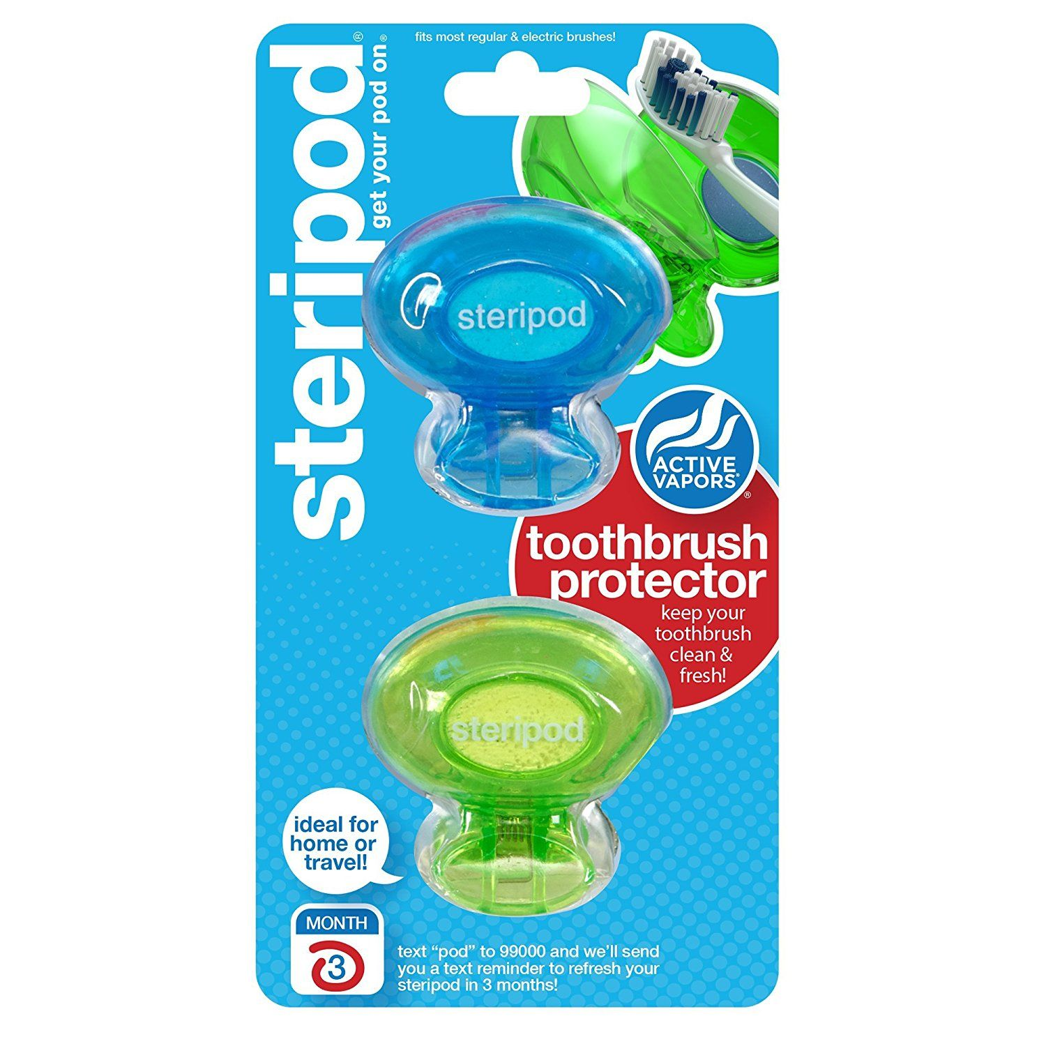 Steripod Clipon Toothbrush Protector (2Pack