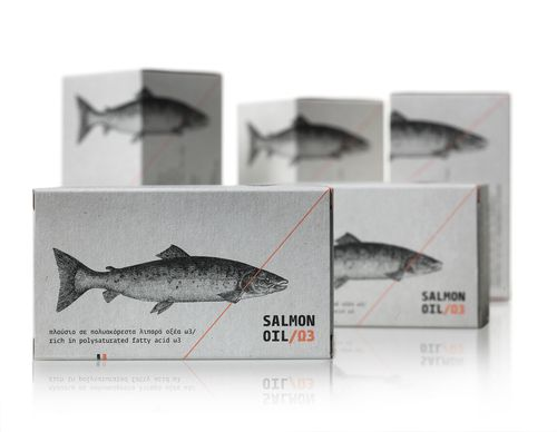 The Dieline Awards 2015: 1st Place Health, Cosmetics, Fragrance, Fashion- Salmon Oil — The Dieline - Branding & Packaging