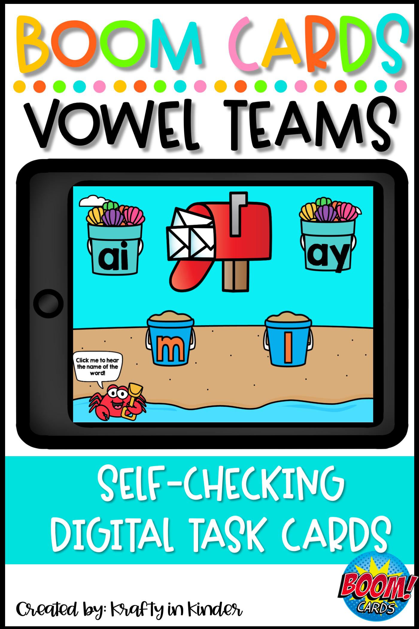 Vowel Teams Long A Ay And Ai Boom Cards