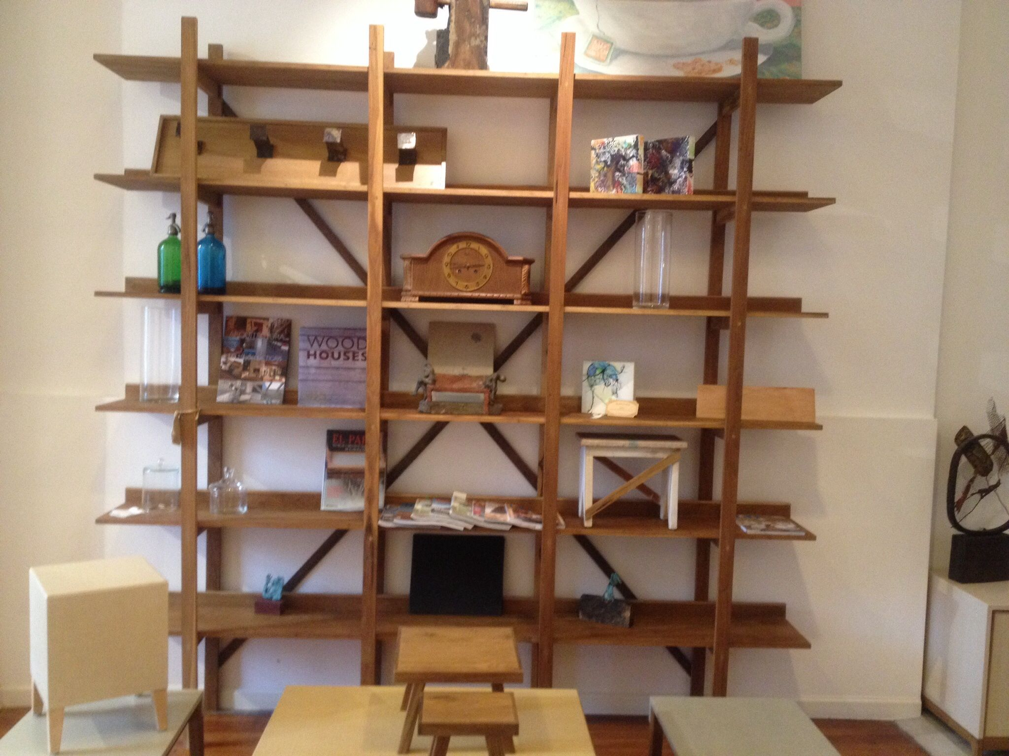 Biblioteca Madera Y Hierro