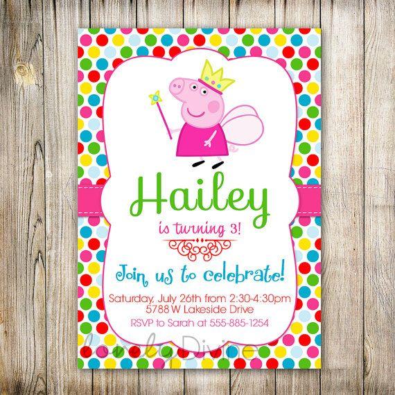 peppa pig invitation peppa invite peppa pig by lovelydivine9 12 00
