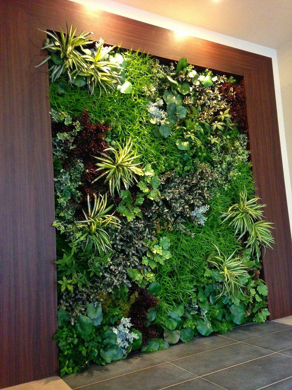 Artificial Flower Wall Display 植物栽培 ウォールガーデン ウォールグリーン 400 x 300