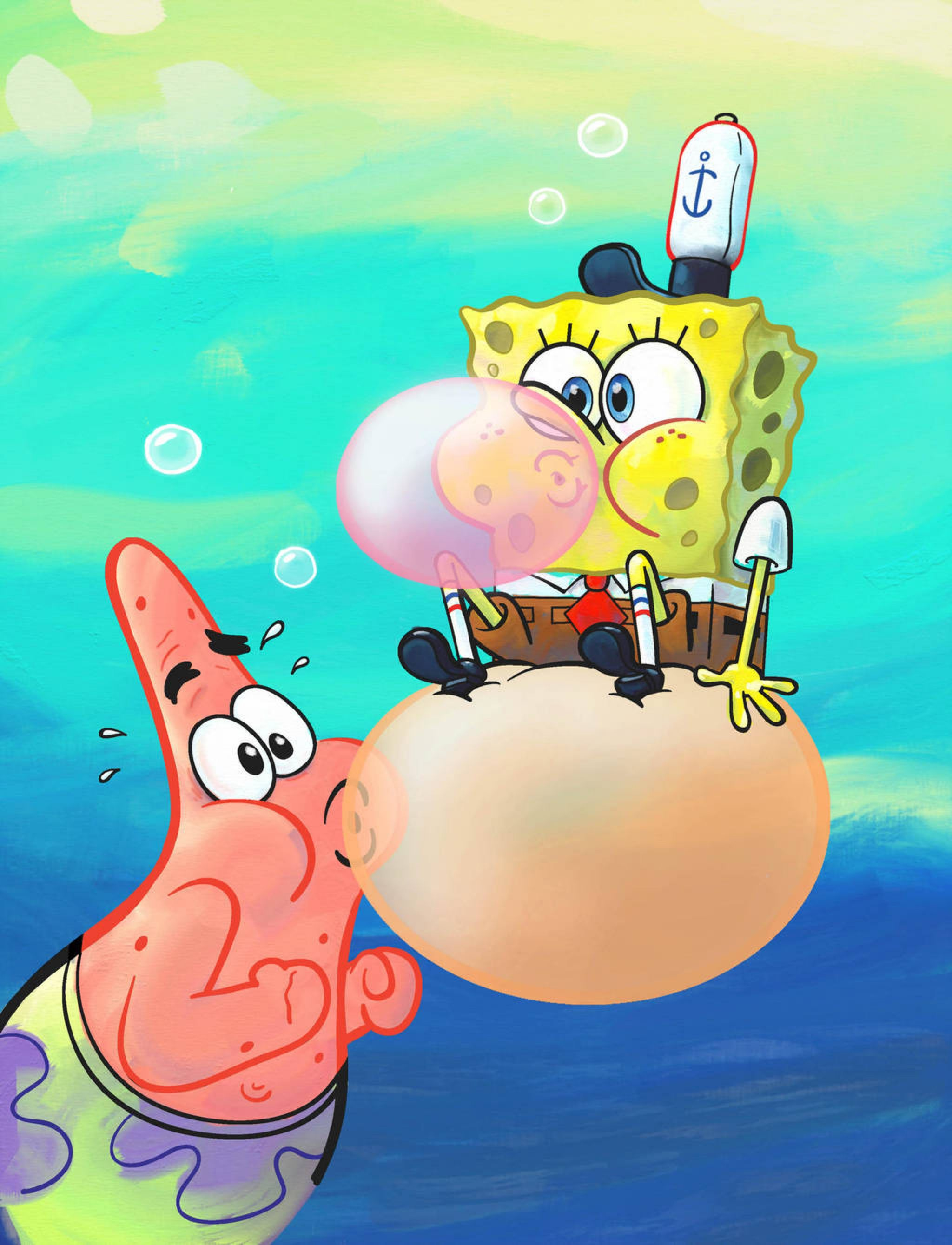 Spongebob Patrick Bubblegum By Shermcohen On Deviantart