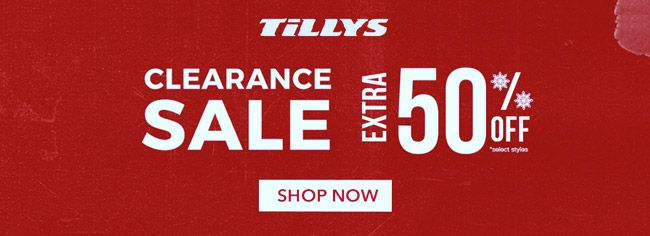 Online Extra 50 Off Clearance Sale Store Tillys Scope Entire Store Ends On 12 05 2019 Get More Deals Ht Local Coupons Clearance Clearance Deals