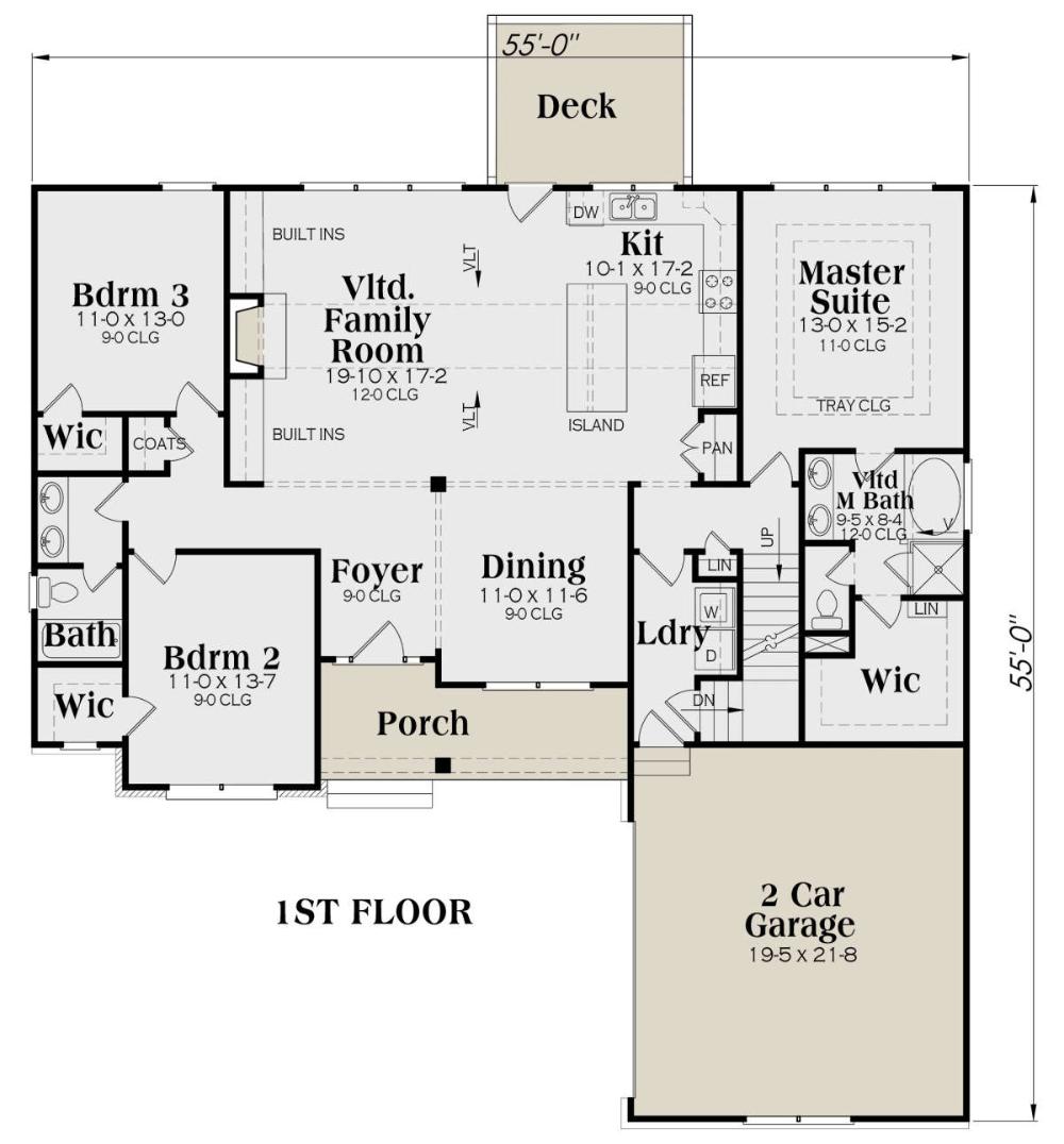 House Plan 009 00275 Modern Farmhouse Plan 1 771 Square Feet 3 Bedrooms 2 Bathrooms Modern Farmhouse Plans Farmhouse Plans House Plans