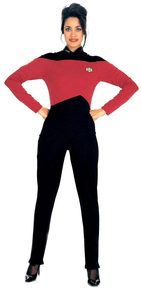 Star Trek Costume For Women Jumpsuit Uniform Costume Red