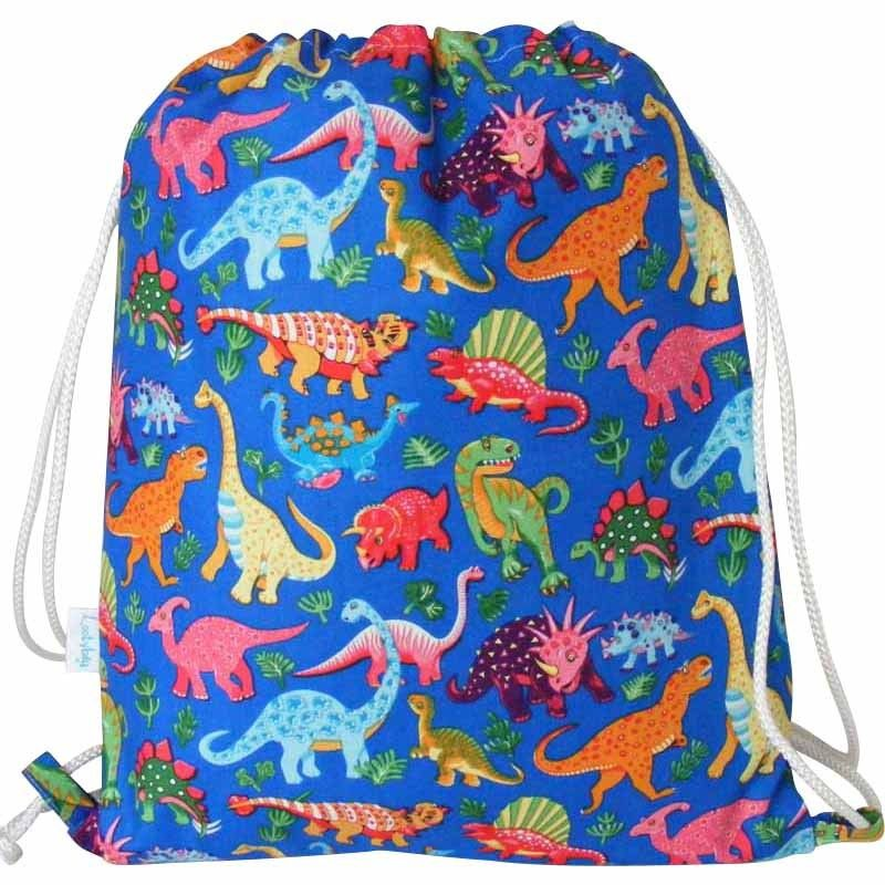 Handmade and beautifully finished Dinosaur swim bag, backpack or ...