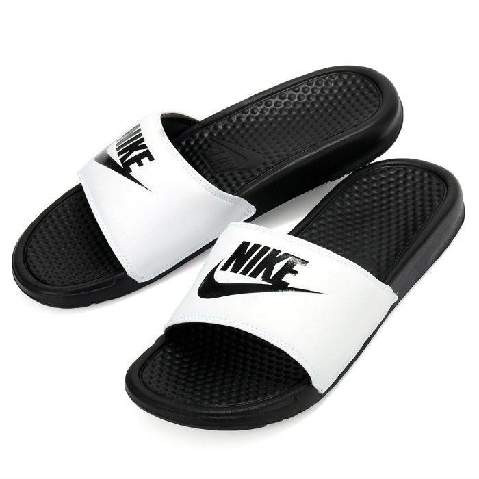 03f8cb46b Sandals 11504  Nike Benassi Jdi Men S Slide White Black Slipper 343880-100  Free Shipping -  BUY IT NOW ONLY   28.45 on  eBay  sandals  benassi  slide   white ...