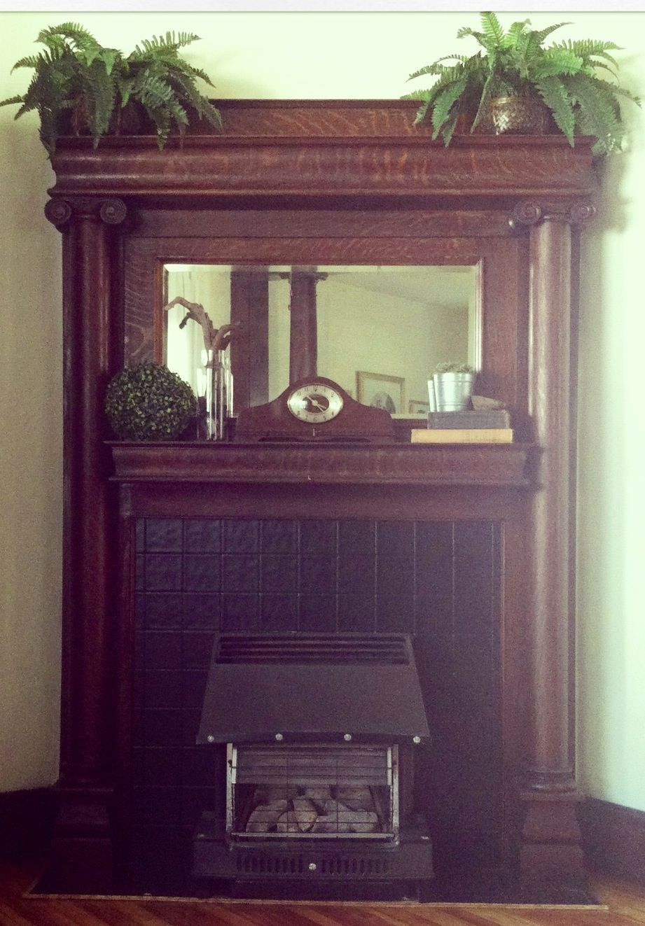 our 100 year old victorian fireplace mantel happy ferns
