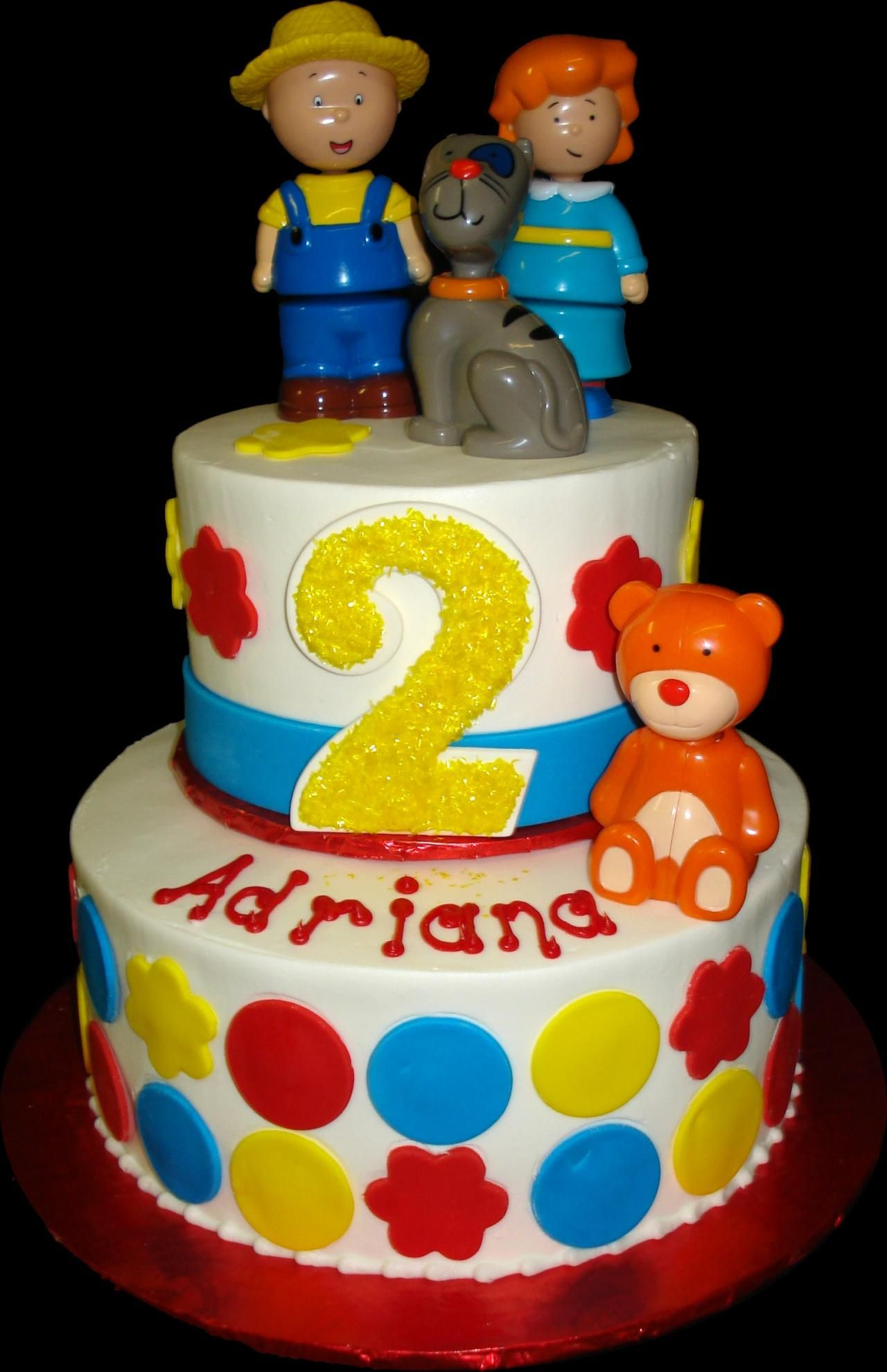 Rosie Cake Design : Caillou 2nd Birthday Cake. White buttercream iced, round 2 ...