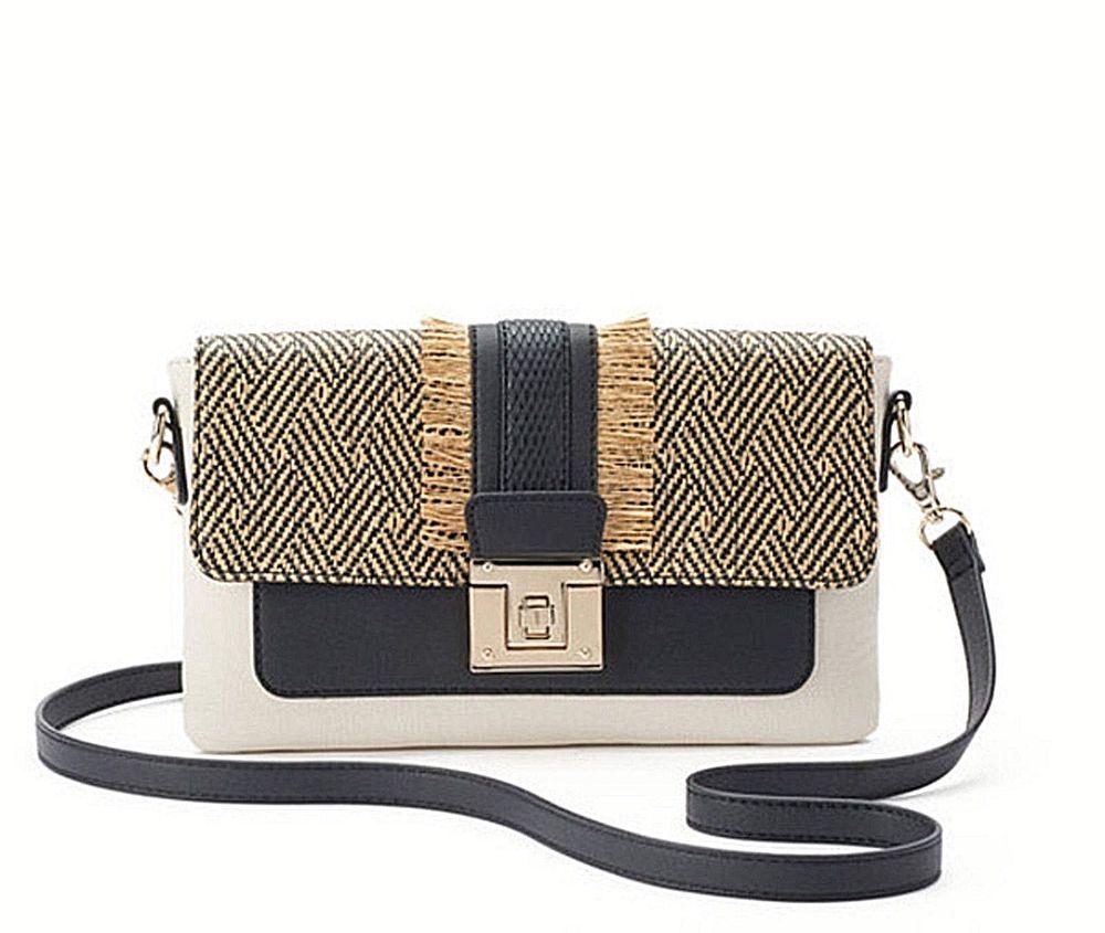 Twist Lock Clutch Crossbody Bag