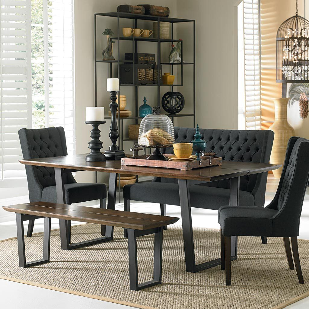 Solid Wood Kitchen Table With Bench: Madagascar Dining Table