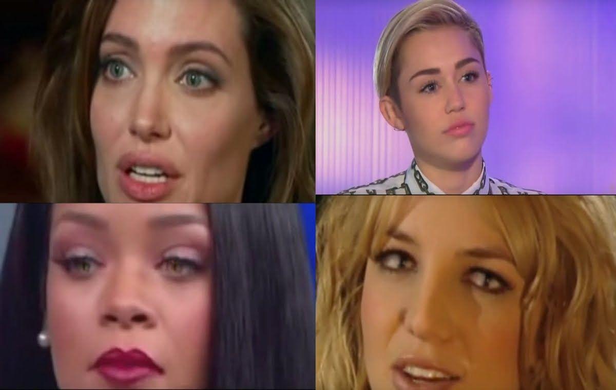 Celebrity reptilian eyes