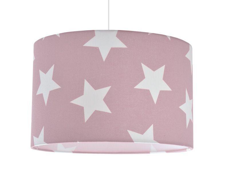 Lampenschirm Weisse Sterne Auf Altrosa 35cm Von Scandlight Auf Dawanda Com Lampenschirm Weiss Lampenschirm Altrosa