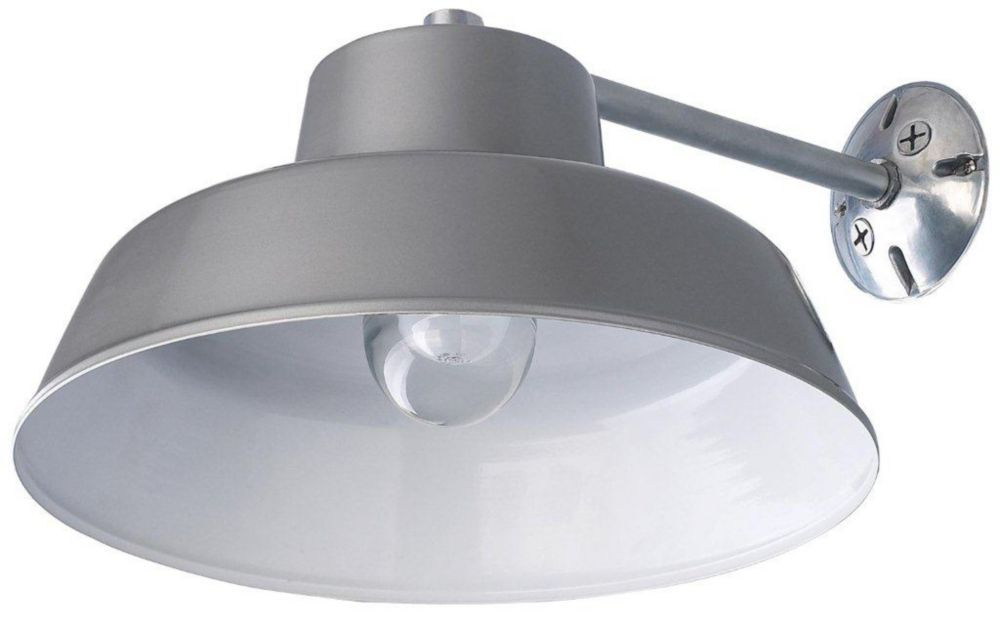 Canarm ltd all weather 1 light ceilingwall mount clear