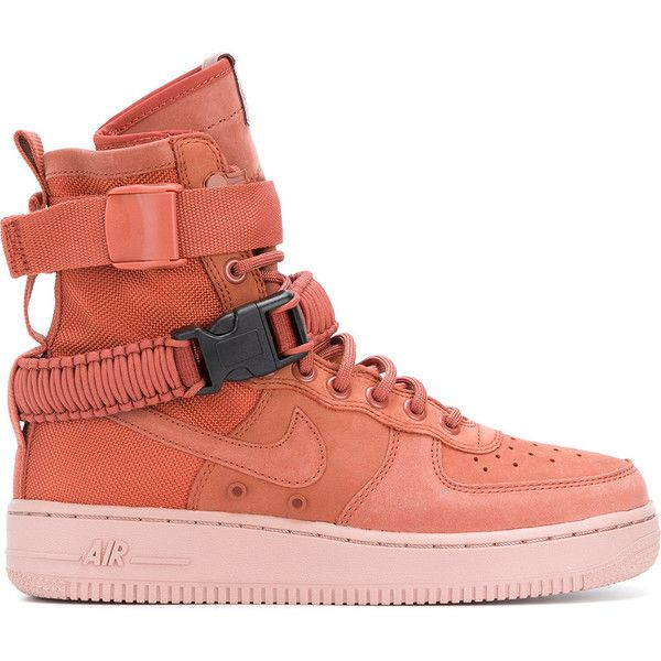 competitive price d746d 3c367 Nike SF Air Force 1 sneakers ($226) ❤ liked on Polyvore featuring shoes,  sneakers, lace up sneakers, perforated sneakers, perforated leather  sneakers, ...