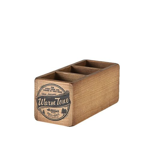 3 PARTITION WOODEN BOX
