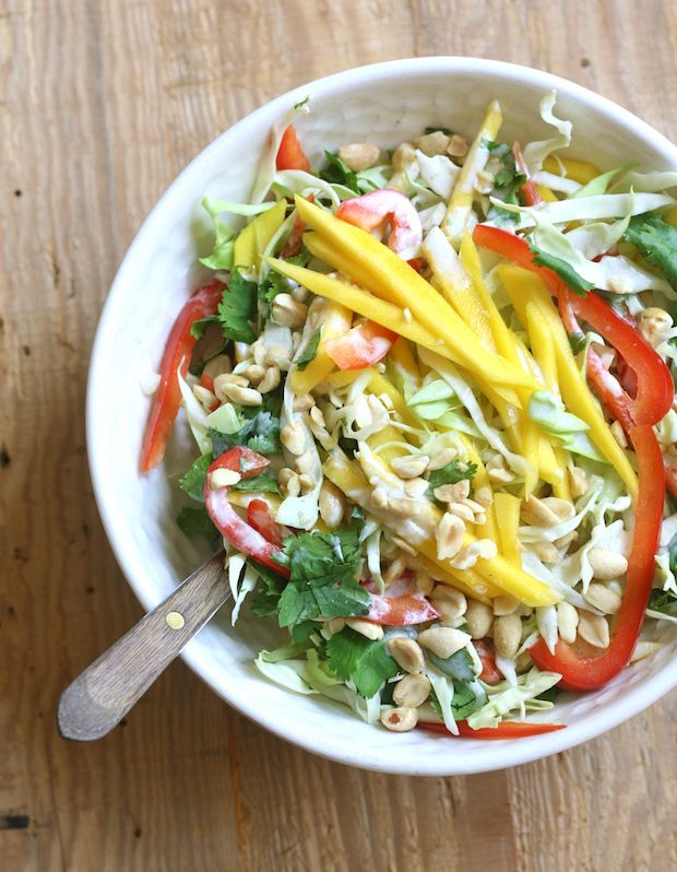 Mango Slaw with Coconut-Lime Dressing