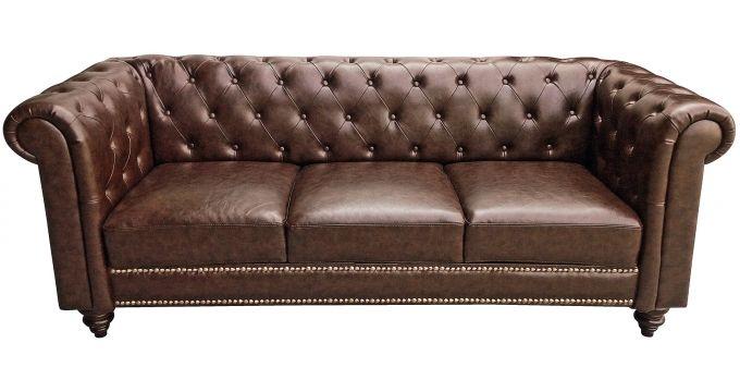 Sofa Queens 3 Sitzer Kunstleder Braun B219xh87xt82 Cm Sofa Decor Home Decor
