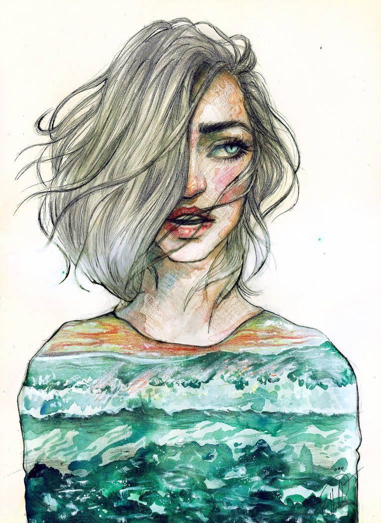 The Sea By Poplavskaya Art Art Drawings Watercolor Art