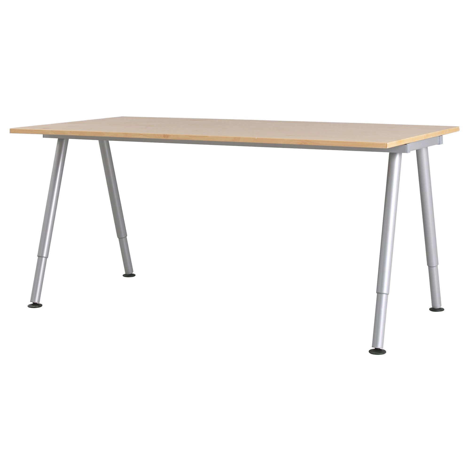 Ikea Galant Bureau Galant Desk Birch Veneer A Leg Silver Color Ikea Sewing Gold