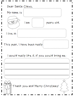 Letter To Santa Template  Teaching    Santa Template