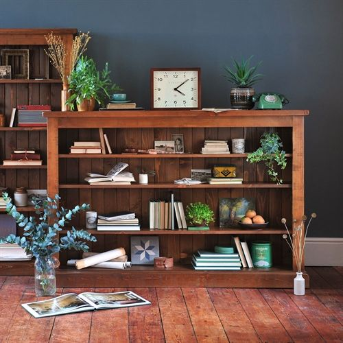 Abington Pine Low Wide Bookcase From The Cotswold Company Industrial Pine Pine Bookcase Modern Coun Wide Bookcase Bookshelves In Living Room Large Bookcase