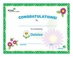 Free printable girl scout certificates daisy bridging for Girl scout award certificate templates