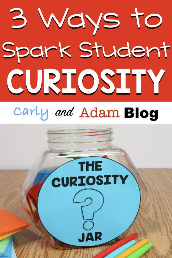 Curiosity is essential to student engagement and learning. Students who ask questions take ownership of their education and learn how to problem solve. The following are three strategies to increase student curiosity and engagement: a wonder wall bulletin board display, curiosity jar, and a curiosity journal (wonder journal). Get started right away with the free printables included! #curiosity #studentengagement