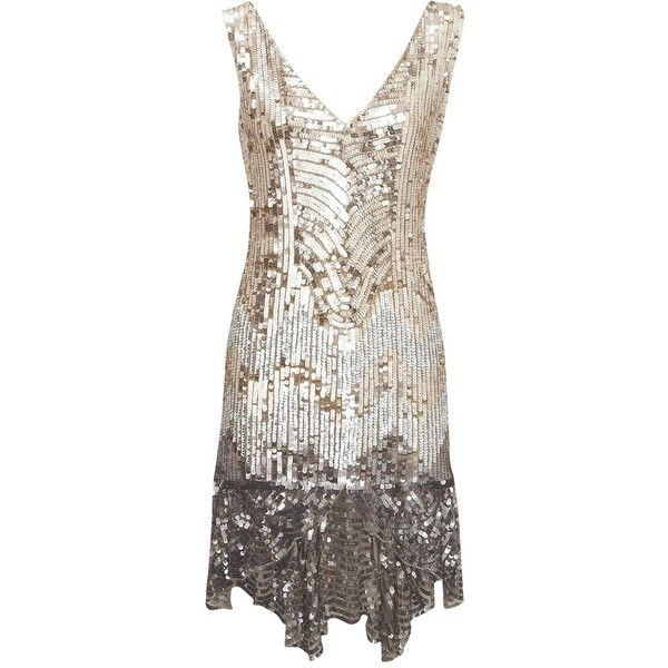 Sequin Flapper Dress ($40) found on Polyvore