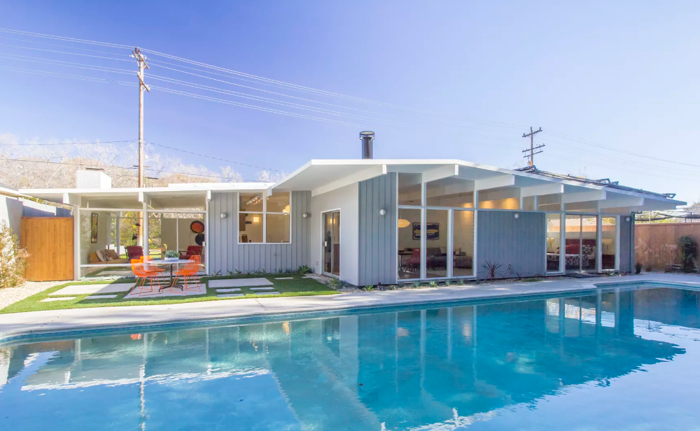 Crisp midcentury modern with a pool asks $1.49M in Glendale