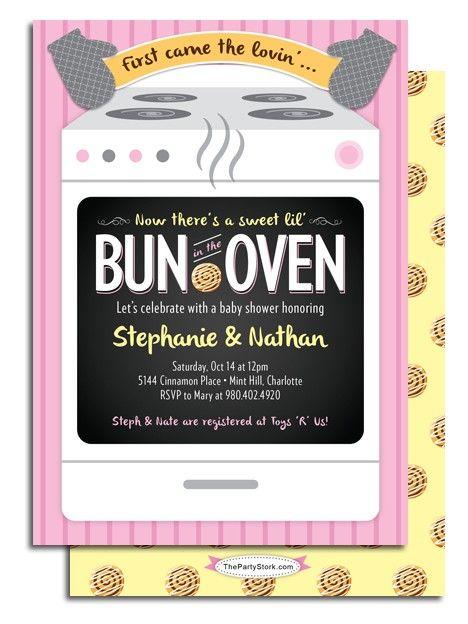 Bun In The Oven Shower Gender Reveal Invite Zazzlecom For