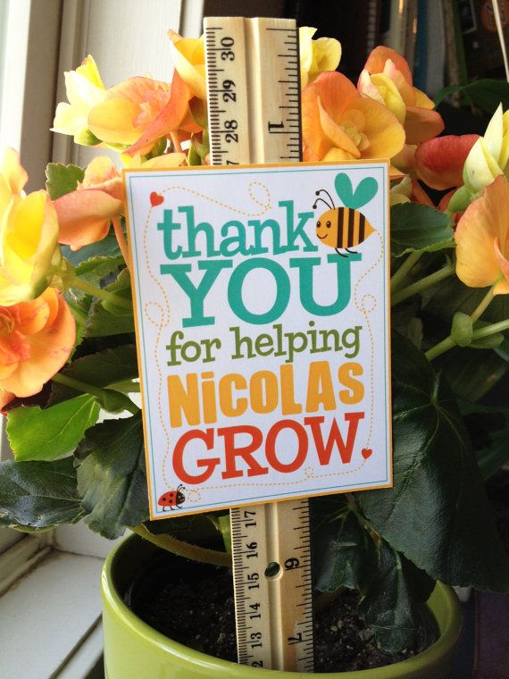 Teacher Appreciation Personalized Grow Sign Printable Pdf